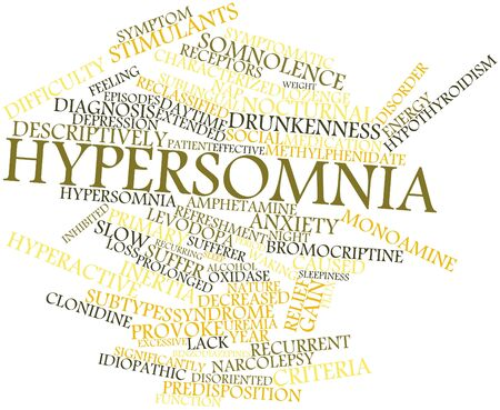 receptors: Abstract word cloud for Hypersomnia with related tags and terms Stock Photo