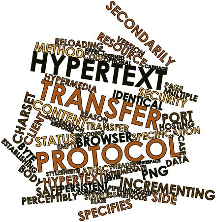 Abstract word cloud for Hypertext Transfer Protocol with related tags and terms Stock Photo - 16578809