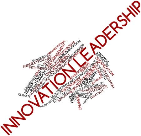 Paradoks: Abstract cloud słowo przywództwa innowacji związanych z tagami oraz warunków Zdjęcie Seryjne
