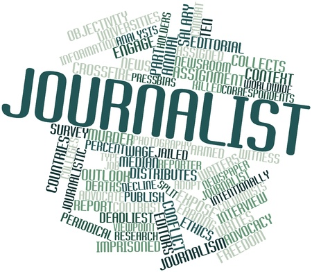 advocacy: Abstract word cloud for Journalist with related tags and terms
