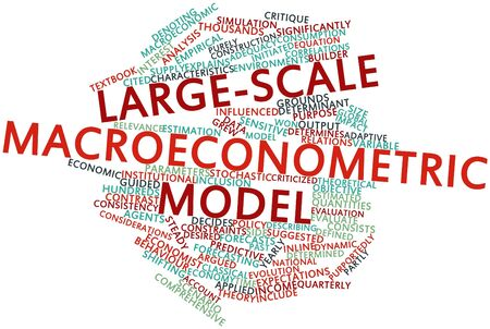 Abstract word cloud for Large-scale macroeconometric model with related tags and terms Stock Photo - 16580137