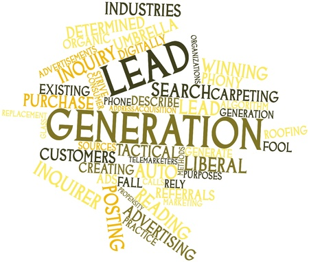 sources: Abstract word cloud for Lead generation with related tags and terms