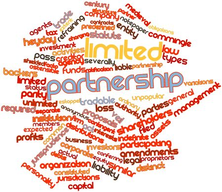 obligations: Abstract word cloud for Limited partnership with related tags and terms