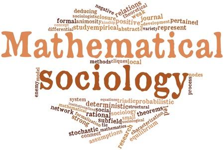 sociologia: Nube palabra abstracta para la sociolog�a matem�tica con las etiquetas y t�rminos relacionados