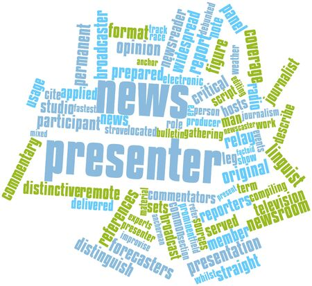 Abstract word cloud for News presenter with related tags and terms Stock Photo - 16579902
