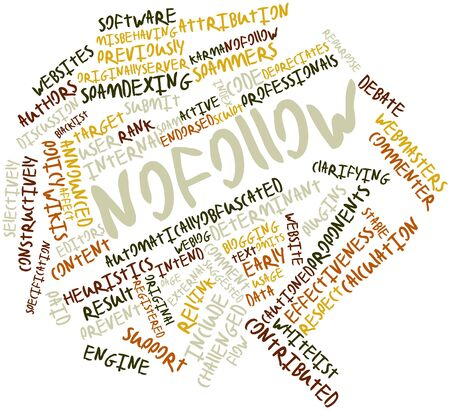 Abstract word cloud for Nofollow with related tags and terms Stock Photo - 16579174