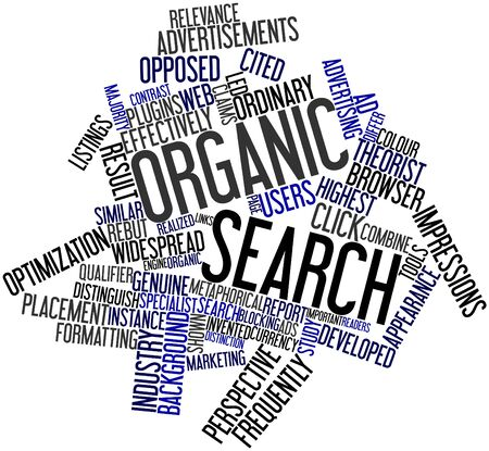 Abstract word cloud for Organic search with related tags and terms Stock Photo - 16579184