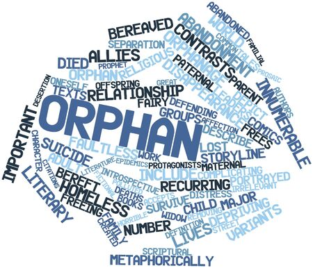 Abstract word cloud for Orphan with related tags and terms Stock Photo - 16579173