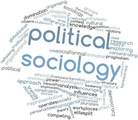 Abstract word cloud for Political sociology with related tags and terms Stock Photo - 16580183