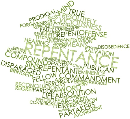 dwell: Abstract word cloud for Repentance with related tags and terms