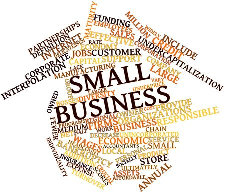 widely: Abstract word cloud for Small business with related tags and terms Stock Photo