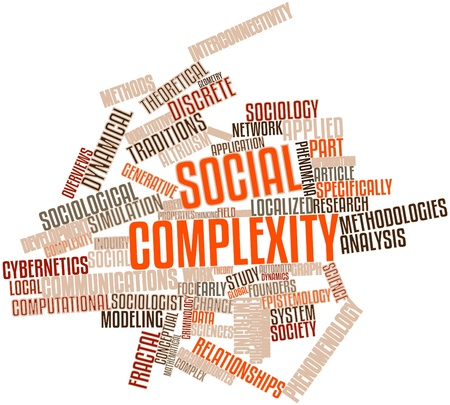 sciences: Abstract word cloud for Social complexity with related tags and terms