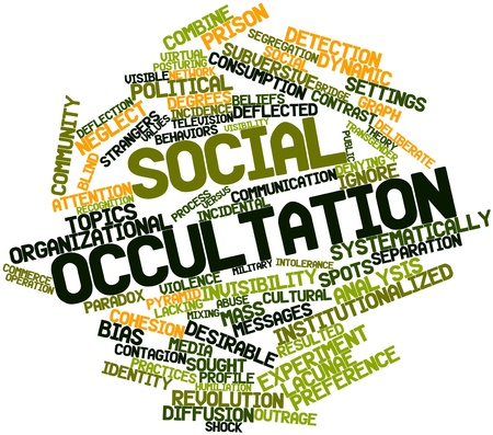 sought: Abstract word cloud for Social occultation with related tags and terms