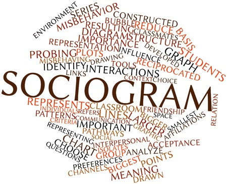 Abstract word cloud for Sociogram with related tags and terms Stock Photo - 16579241