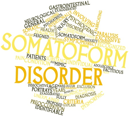 Abstract word cloud for Somatoform disorder with related tags and terms