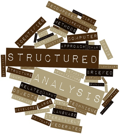 Abstract word cloud for Structured analysis with related tags and terms Stock Photo - 16578565