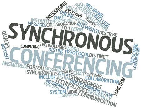 answered: Abstract word cloud for Synchronous conferencing with related tags and terms