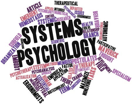 holistic health: Abstract word cloud for Systems psychology with related tags and terms