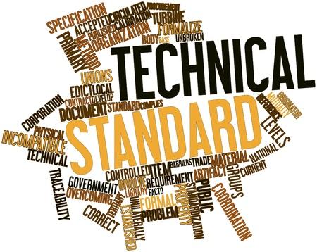 edicto: Nube palabra abstracta para Norma técnica con las etiquetas y términos relacionados