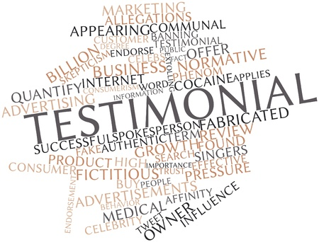 attempted: Abstract word cloud for Testimonial with related tags and terms