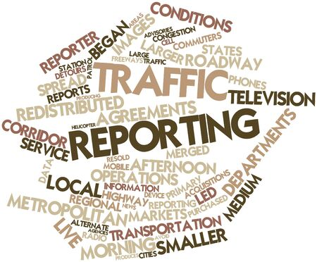 reporting: Abstract word cloud for Traffic reporting with related tags and terms