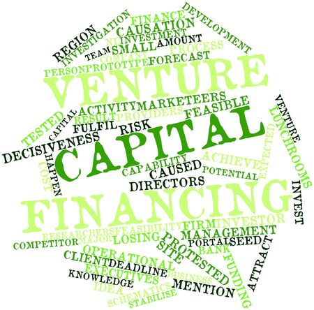 venture: Abstract word cloud for Venture capital financing with related tags and terms