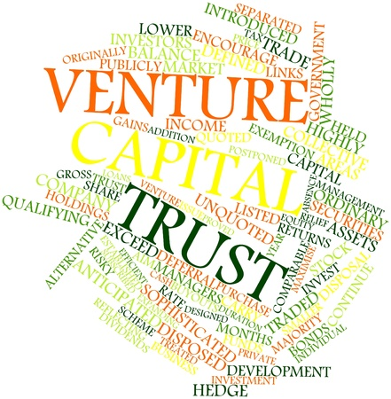 venture: Abstract word cloud for Venture capital trust with related tags and terms