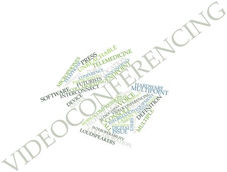 videoconferencing: Abstract word cloud for Videoconferencing with related tags and terms