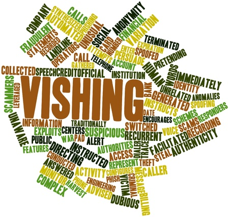persuade: Abstract word cloud for Vishing with related tags and terms