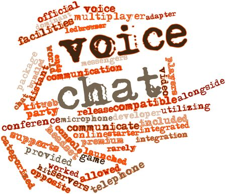 worked: Abstract word cloud for Voice chat with related tags and terms Stock Photo