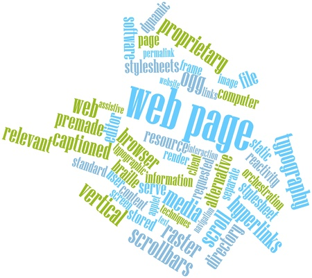 implementations: Abstract word cloud for Web page with related tags and terms