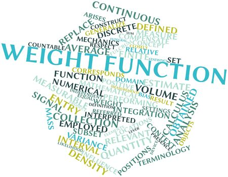 obtained: Abstract word cloud for Weight function with related tags and terms