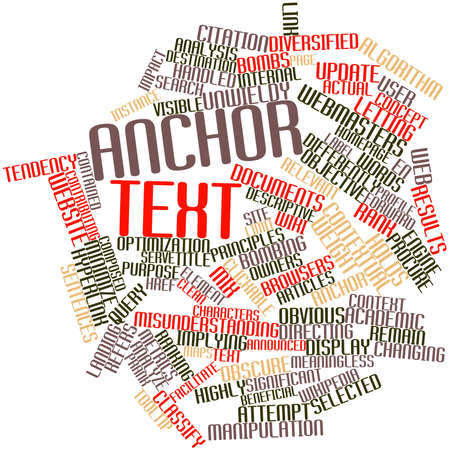 contributing: Abstract word cloud for Anchor text with related tags and terms