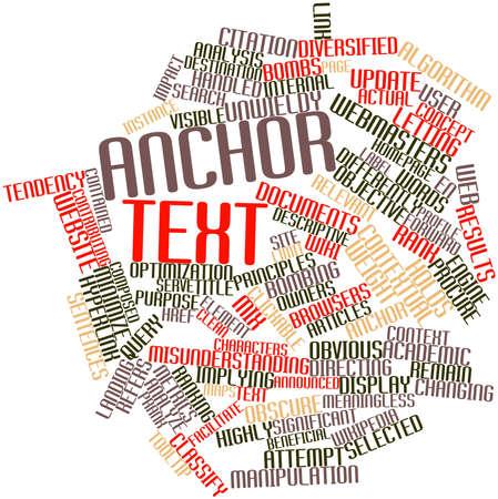 contextual: Nube palabra abstracta para el texto de anclaje con etiquetas y t�rminos relacionados