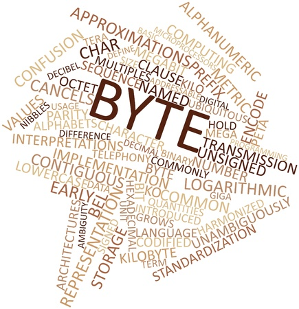 Abstract word cloud for Byte with related tags and terms Stock Photo - 16602947