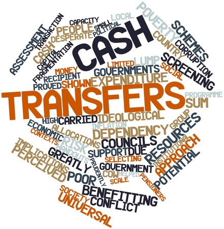 poorer: Abstract word cloud for Cash transfers with related tags and terms