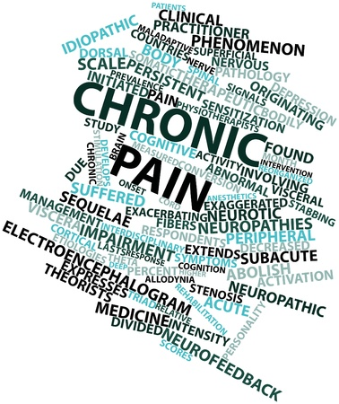 Abstract word cloud for Chronic pain with related tags and terms Stock Photo - 16602951