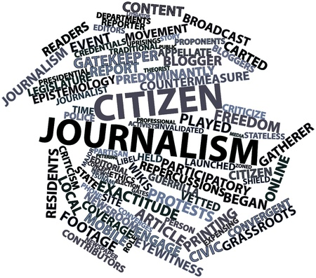Abstract word cloud for Citizen journalism with related tags and terms Stock Photo - 16603377