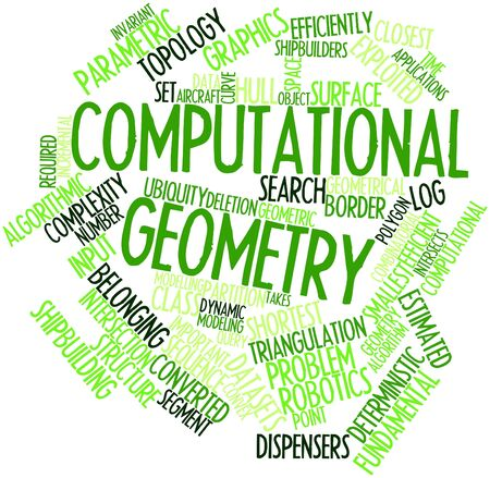 intersects: Abstract word cloud for Computational geometry with related tags and terms