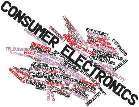 consumer electronics: Abstract word cloud for Consumer electronics with related tags and terms