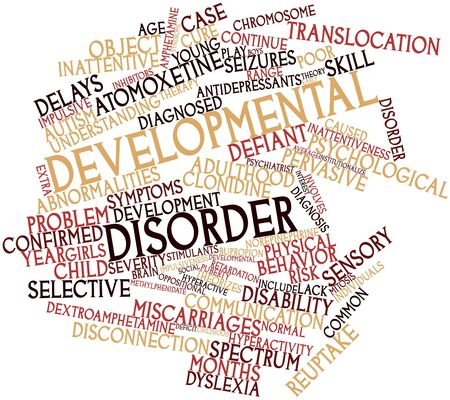 Abstract word cloud for Developmental disorder with related tags and terms Stock Photo - 16603357