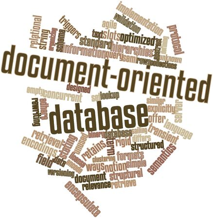 concurrent: Abstract word cloud for Document-oriented database with related tags and terms