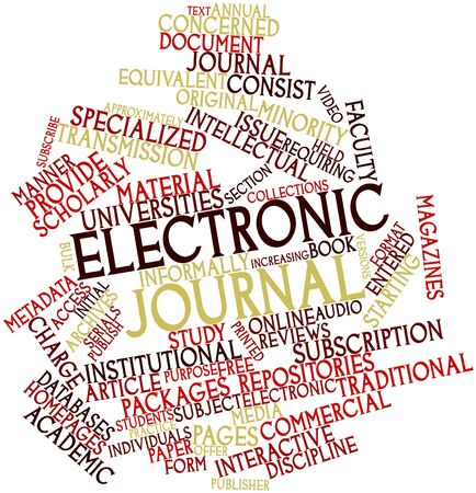 Abstract word cloud for Electronic journal with related tags and terms Stock Photo - 16603391
