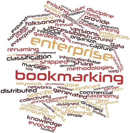bookmarking: Abstract word cloud for Enterprise bookmarking with related tags and terms