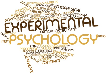 Abstract word cloud for Experimental psychology with related tags and terms Stock Photo
