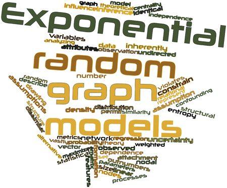 nodal: Abstract word cloud for Exponential random graph models with related tags and terms