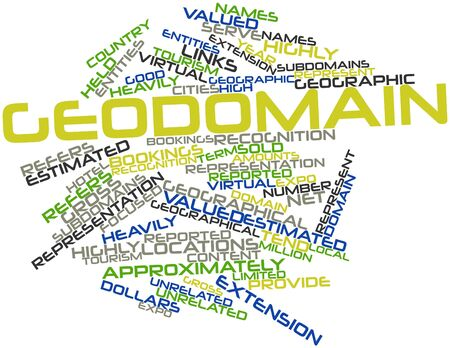 approximately: Abstract word cloud for Geodomain with related tags and terms