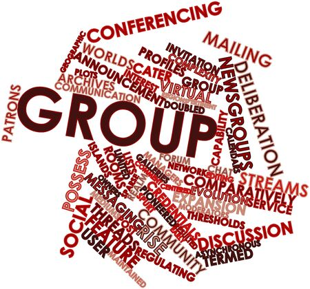 Abstract word cloud for Group with related tags and terms Stock Photo - 16603386