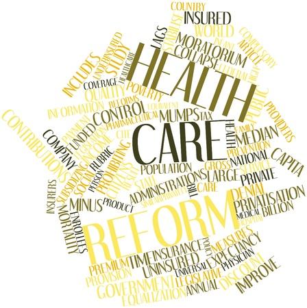 poblacion: Nube palabra abstracta para reforma de salud con las etiquetas y t�rminos relacionados