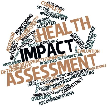 determinants: Abstract word cloud for Health impact assessment with related tags and terms